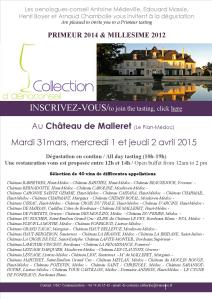 Invitation Primeur 2015 Collection d'Oenoconseil