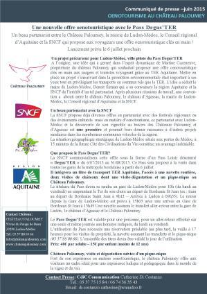 Le Pass Degus'TER une nouvelle offre oenotouristique à Paloumey-juin 2015
